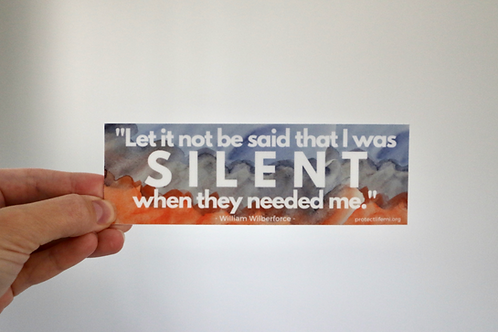 Silent Sticker - in orange