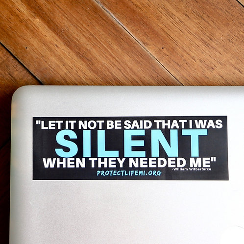 Silent Quote Sticker