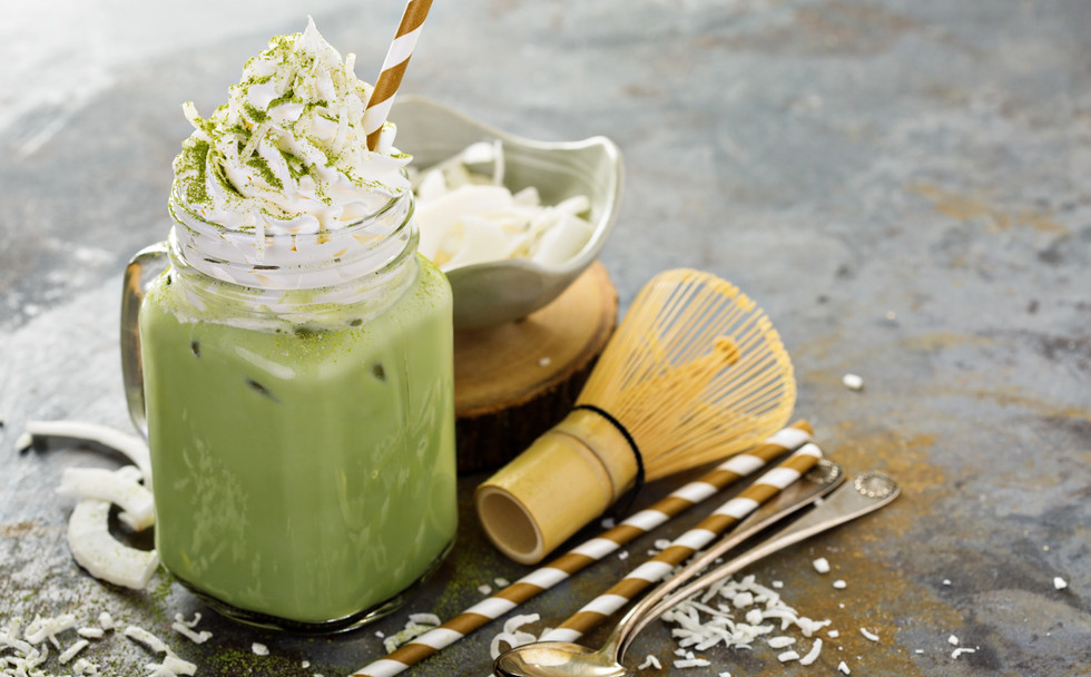 Creamy Matcha Latte with Whipped Cream