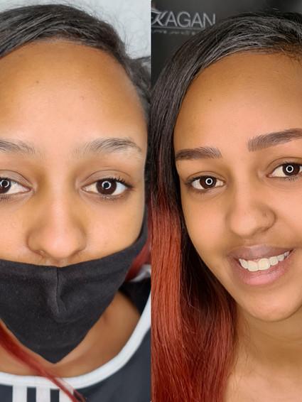 איפור קבוע קבוע גבות לעור כהה