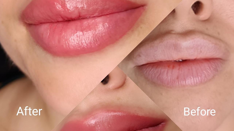 איפור קבוע בשפתיים