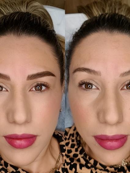 איפור קבוע קבוע גבות לפני ואחרי