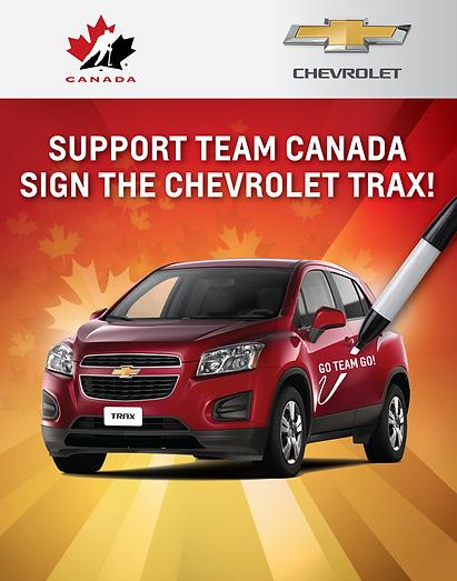 Team Canada Signed Chevrolet Trax