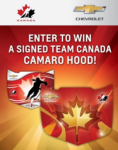 Signed Team Canada Camaro Hood