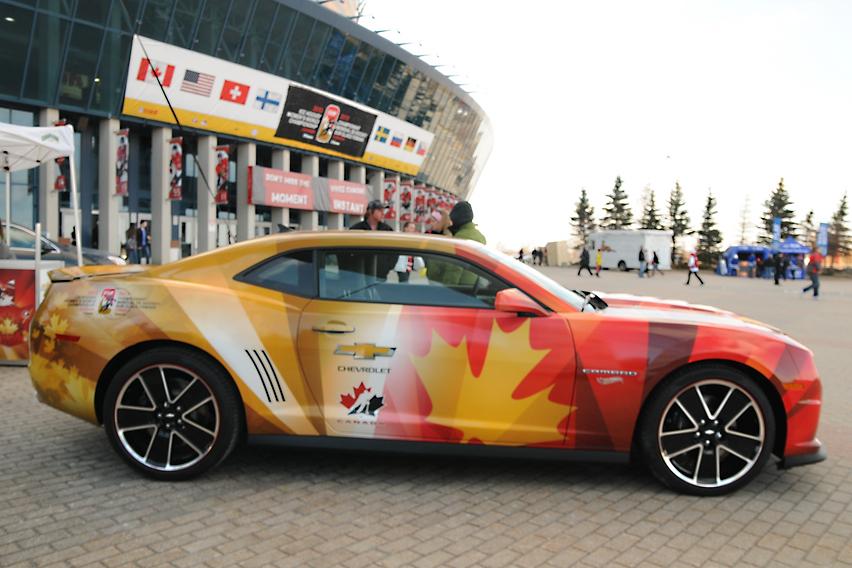 Chevrolet Camaro at 2013 IIHF Women's World Championship