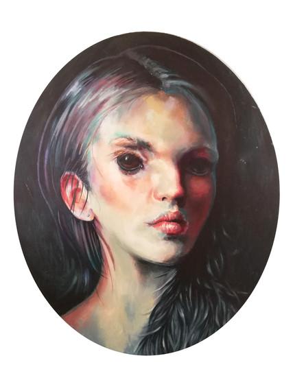 Girl with kangaroo eyes.