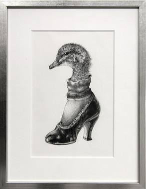 Duck in shoe.