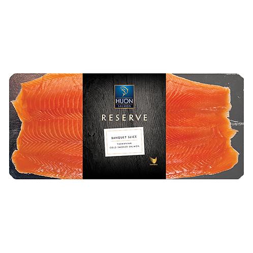 Banquet Sliced Huon Salmon 1kg Per Packet