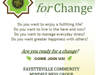 Upcoming Mindfulness for Change Course in Fayetteville