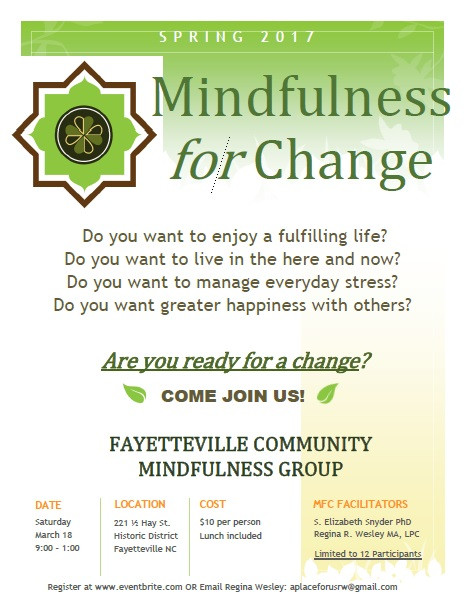 Mindfulness for Change Flyer PDF