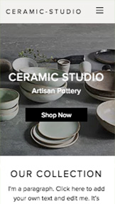 Online Store website templates – Ceramic Studio