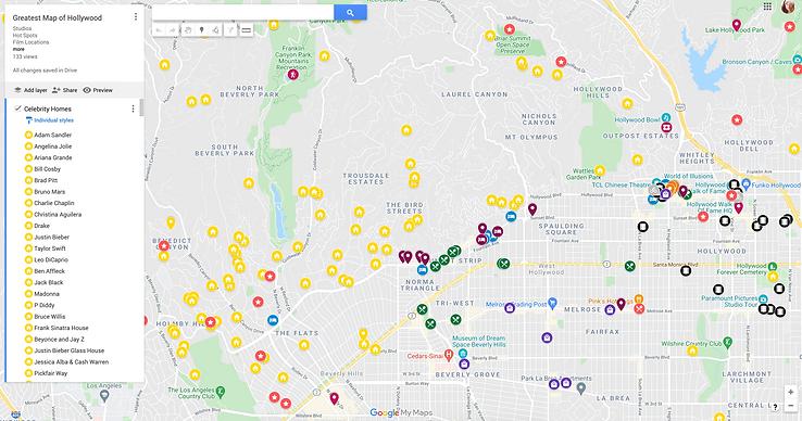 Greatest Map Hollywood