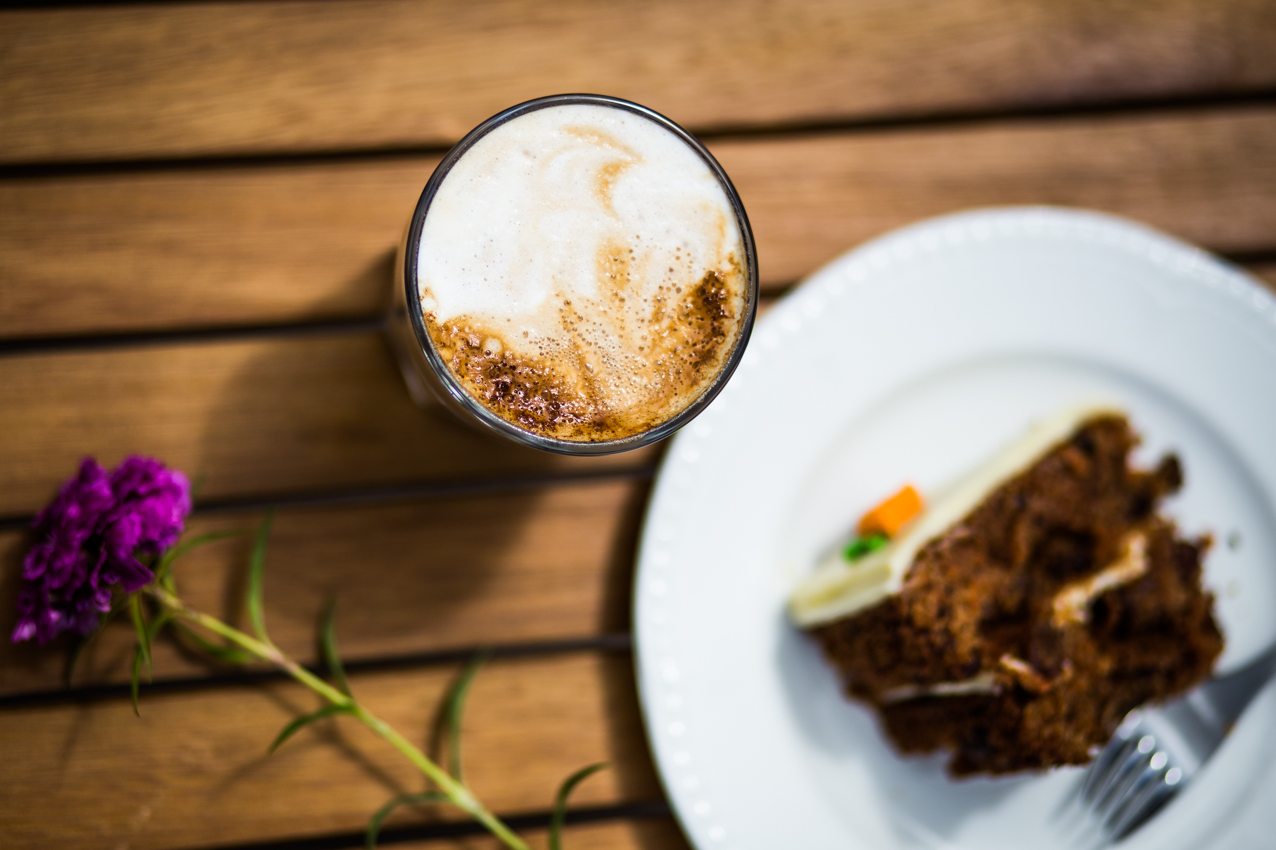 Cappucino and Carrot Cake