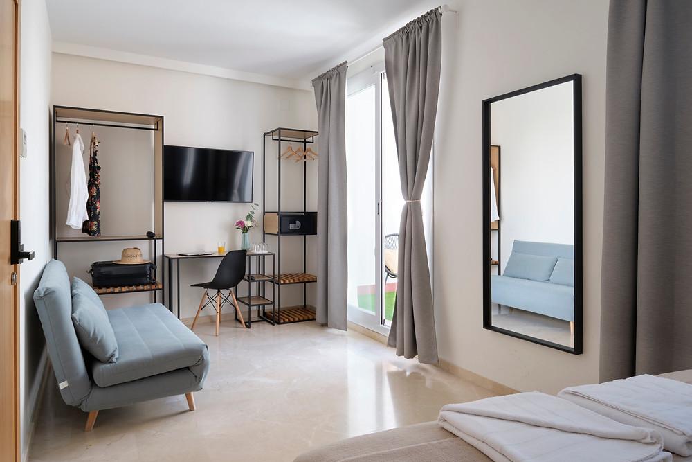 Habitación de Sweet Sevilla Suites