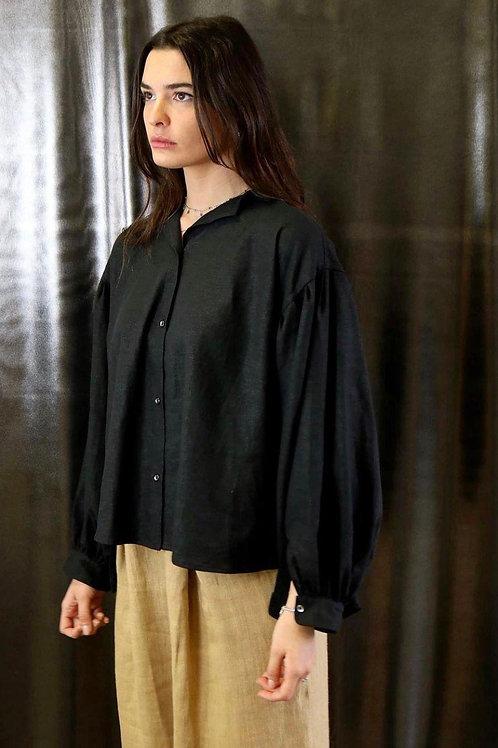Camicia oversize in 100% lino