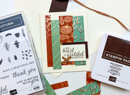 Gilded Autumn Greeting Card | Card Making Tutorial | Stampin Up