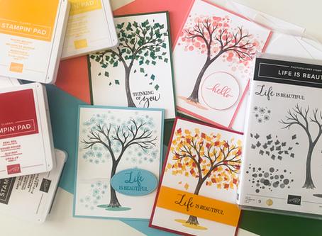 Life Is Beautiful Season Greeting Cards | Card Making Tutorial | Stampin Up
