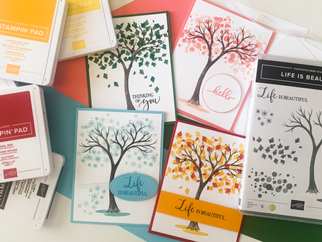 Life Is Beautiful Season Greeting Cards | Card Making Tutorial | Stampin Up