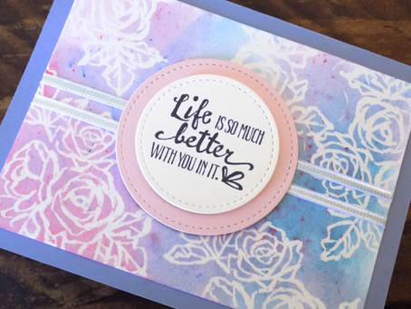 Petal Palette Greeting Card - SBTD March Hop | Stampin Up