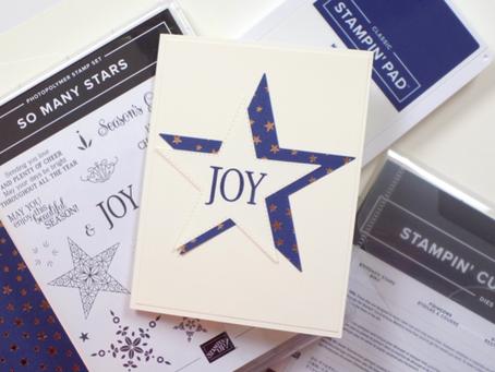 So Many Stars Holiday Card + Giveaway! | Stampin Up