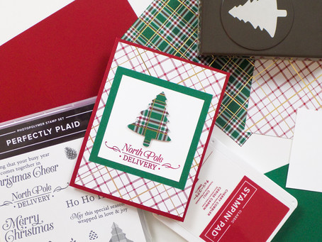 Perfectly Plaid Greeting Card | Stampin Up