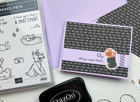 Pampered Pets Greeting Card | Card Making Tutorial | Stampin Up