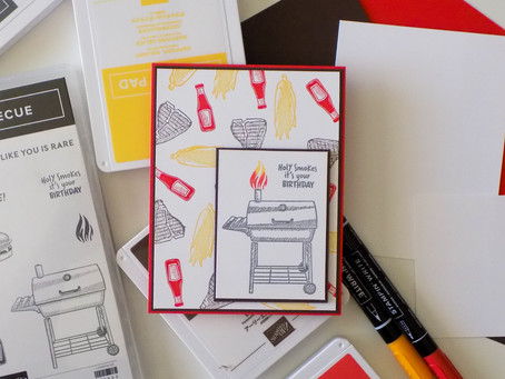Outdoor Barbecue Birthday Card | Stampin Up