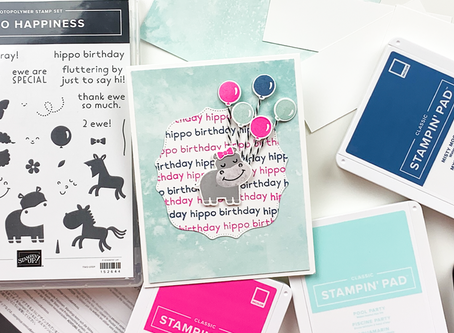Hippo Happiness Birthday Card | Card Making Tutorial | Stampin Up