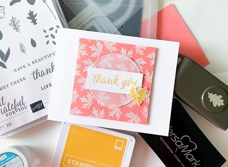 Beautiful Autumn Thank You Card | Card Making Tutorial | Stampin Up