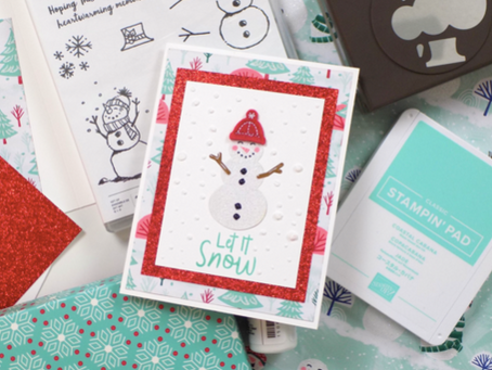 Snowman Season Greeting Card | Stampin Up