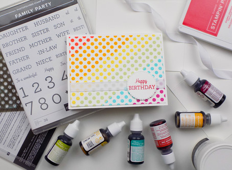 Rainbow Dot Greeting Card | Stampin Up
