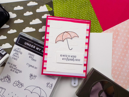 Under My Umbrella Greeting Card | Stampin Up
