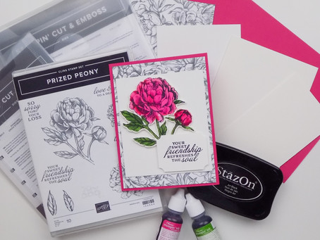 Prized Peony Greeting Card | Stampin Up