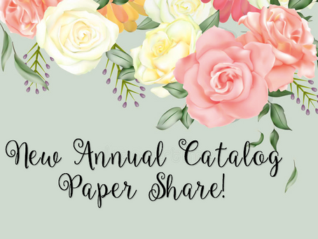 New Stampin Up Annual Catalog Paper Share!