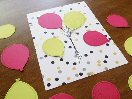 Balloon Celebration Greeting Card Remake - SBTD July Hop | Stampin Up