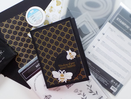 Golden Honey Bee Greeting Card | Stampin Up