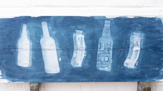 By Sarah Beard - Bottle cyanotype