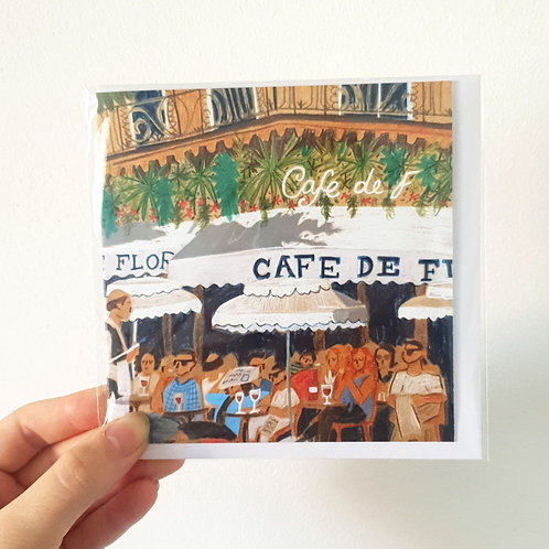 Cafe De Florentine, Paris - Card