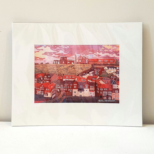Whitby Harbour - Mounted Print