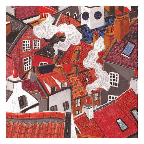 Rooftops & Chimney Pots - Print