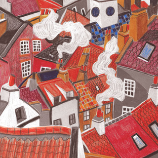 Rooftops & Terracotta Chimney Pots
