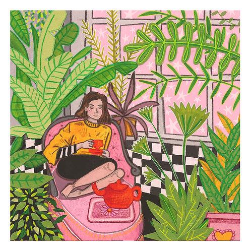 Houseplants & Green Tea - Print