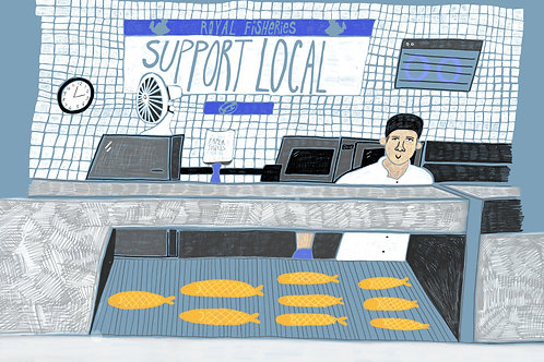 Support local - postcard