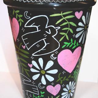 Painted plant pot
