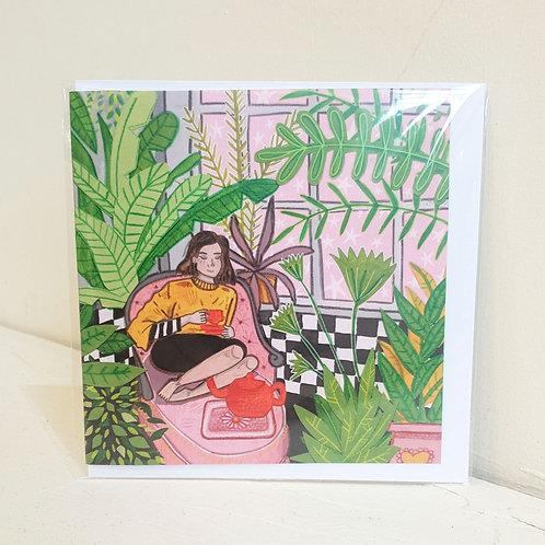 Houseplants & Greentea - Card