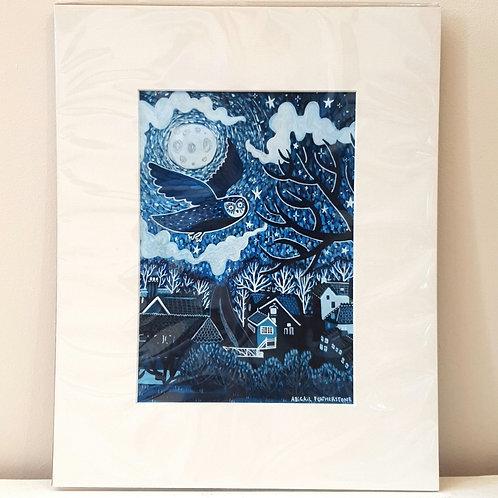 Grosmont, Night Sky - Mounted Print