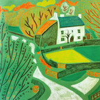 Cottage in green