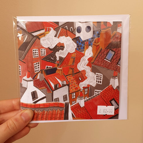 Rooftops and Chimney Pots - Card