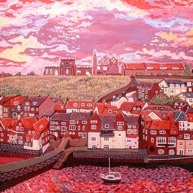 Pink clouds over Whitby Harbour