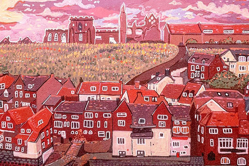 Candyfloss clouds over Whitby - Print